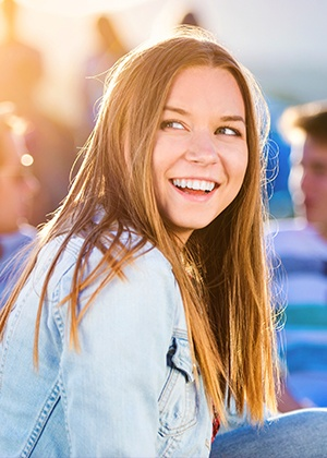 Smiling young woman