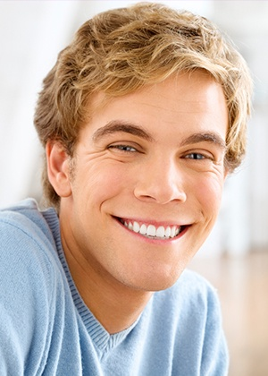 Young man with healthy smile